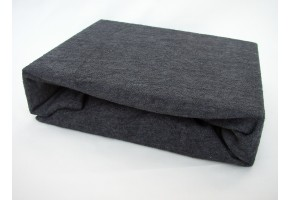 Froté prostěradlo 90x200 cm šedočerné exclusive