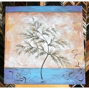 Obraz list kapradin 60x60 cm