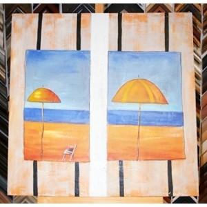 Obraz dva slunečníky 75x75 cm