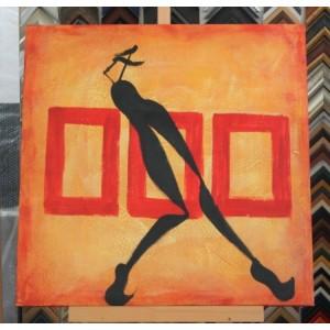 Obraz oranžový den 60x60 cm