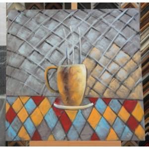 Obraz horký čaj 75x75 cm