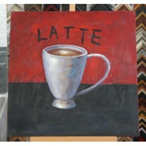 Obraz latte 75x75 cm