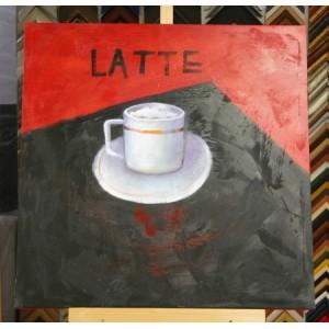 Obraz latte II 75x75 cm