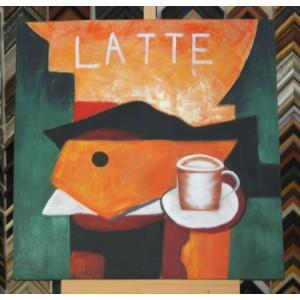 Obraz šálek latte 60x60 cm