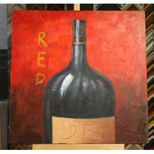 Obraz láhev červeného 60x60 cm