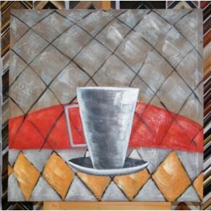 Obraz horký čaj II 75x75 cm