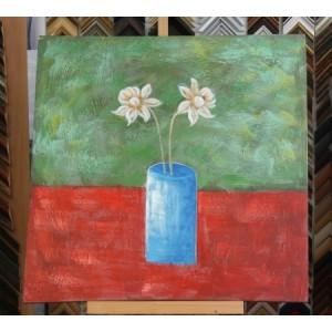 Obraz bílé květy 75x75 cm