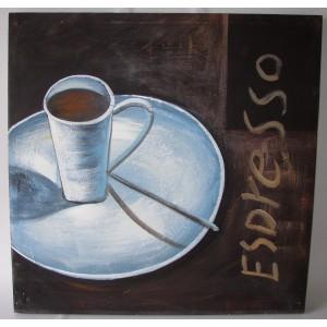 Obraz espresso 75x75 cm