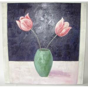 Obraz dva květy 75x75 cm