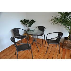 Zahradní nábytek kov + umělý ratan 4+1