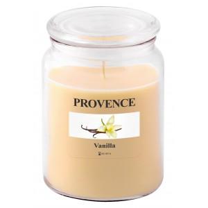 Svíčka ve skle s víčkem, Vanilka 510 g