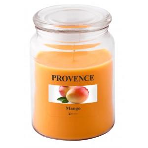 Svíčka ve skle s víčkem, mango 510 g