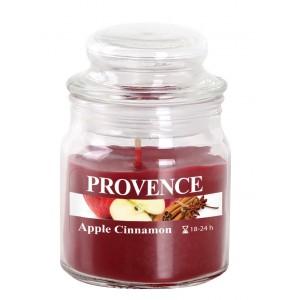 Svíčka ve skle s víčkem, jablko a skořice 70 g