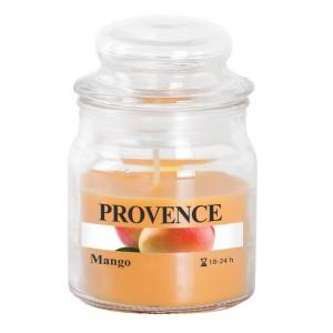 Svíčka ve skle s víčkem, mango 70 g
