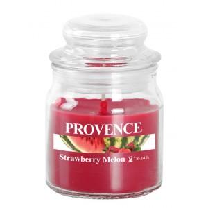 Svíčka ve skle s víčkem, jahoda a meloun 70 g