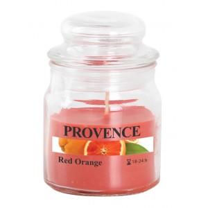 Svíčka ve skle s víčkem, červený pomeranč 70 g