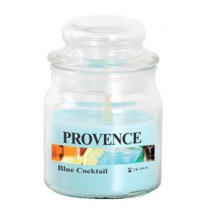 Svíčka ve skle s víčkem, Blue coctail 70 g